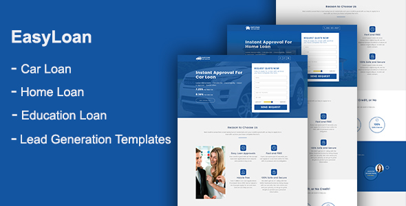 EasyLoan - Loan Company Website Templates by onushorit | ThemeForest