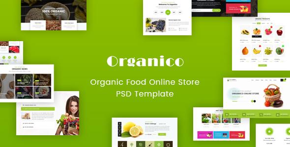 Origanico organic online store psd template by winsfolio themeforest origanico organic online store psd template food retail maxwellsz