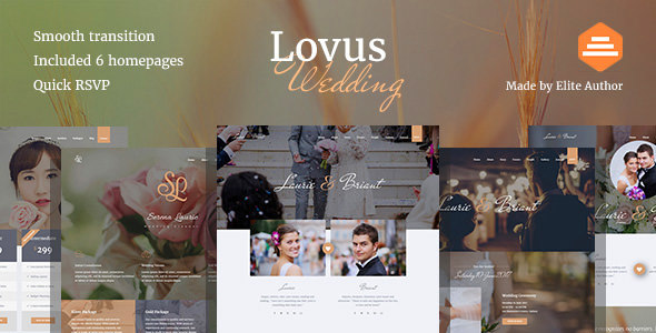 Lovus Wedding and Wedding Planner Website Template by designesia