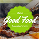 Good Food Presentation Temp-Graphicriver中文最全的素材分享平台