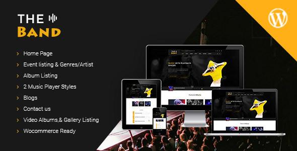 TheBand Music Bands WordPress Theme by eyecix | ThemeForest