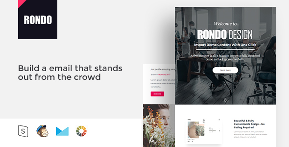 Rondo  Responsive Email Template Minimal By Zay  Themeforest