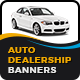 Auto Dealership Banners-Graphicriver中文最全的素材分享平台