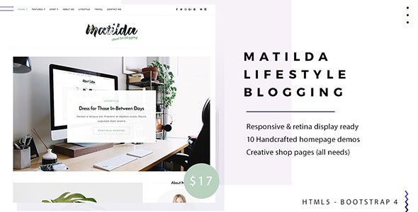 Matilda | Lifestyle Minimal Responsive HTML Blog Template by ...