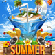 Summer Cocktail Flyer Templ-Graphicriver中文最全的素材分享平台