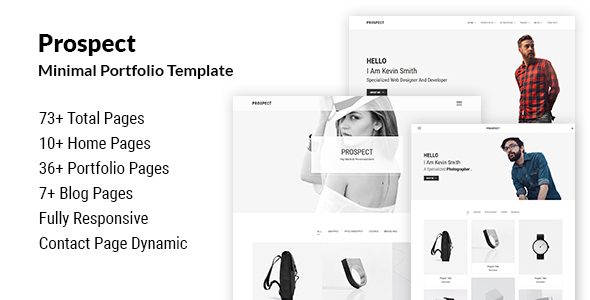 prospect minimal portfolio template by themeaone themeforest