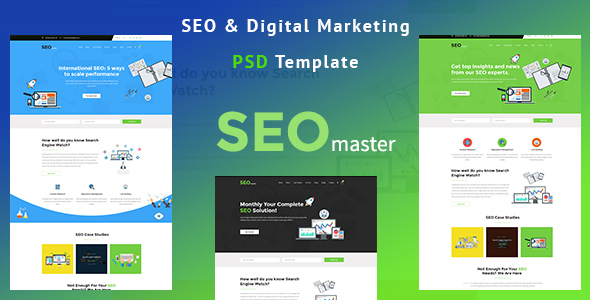 SEOmaster - SEO Company And Digital Agency PSD Template