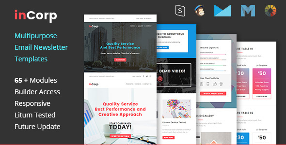Incorp - Business And Corporate Email Newsletter Templates By