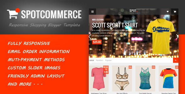 Spotcommerce blogger shopping template by tiennguyenvan for Shopping cart template for blogger