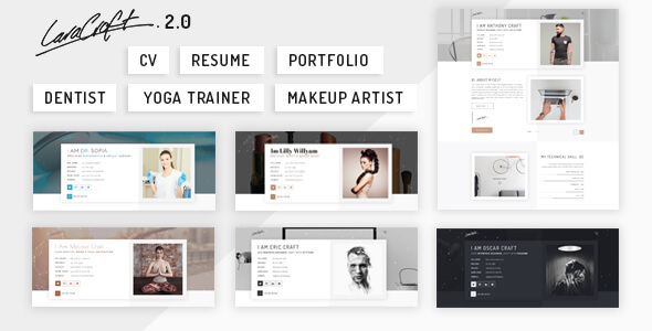 caracraft cv resume portfolio by themeonair themeforest