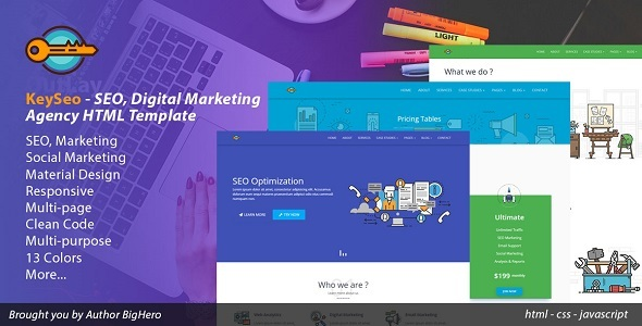 Keyseo seo digital marketing html template by bighero themeforest keyseo seo digital marketing html template marketing corporate maxwellsz