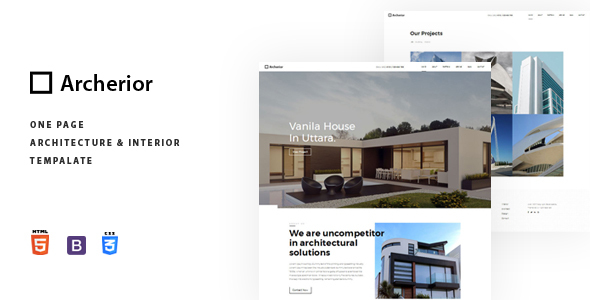 Archerior Architecture and Interior Template by themarlab