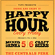 Happy Hour Flyer-Graphicriver中文最全的素材分享平台