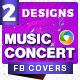 Music Concert Facebook Cove-Graphicriver中文最全的素材分享平台