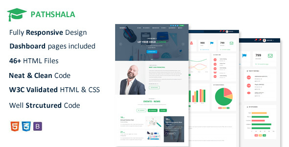 pathshala responsive school management template by limpid themes