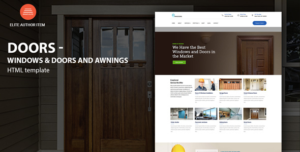 Windows U0026 Doors   High Quality HTML Template   Business Corporate