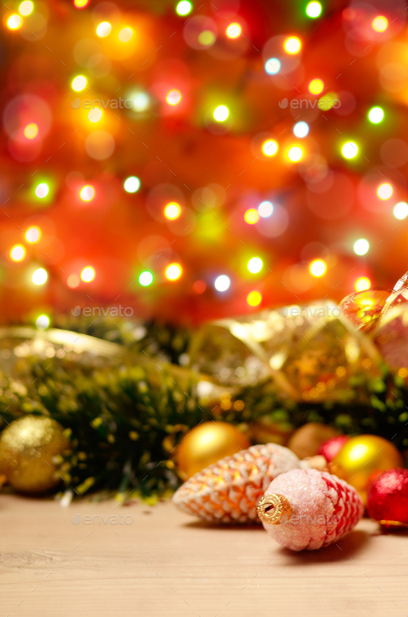 new year theme decorations with fir cones stock photo by e_mikh photodune