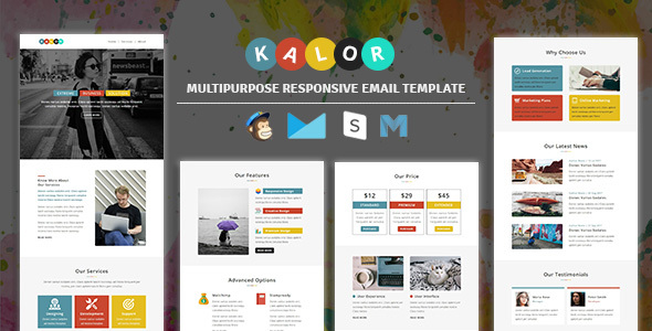 Kalor - Multipurpose Responsive Email Template By Guiwidgets