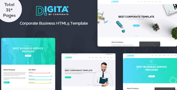 Digita Corporate Business Template by Marvel_Theme | ThemeForest