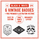 6 Hipster Vintage Badges-Graphicriver中文最全的素材分享平台