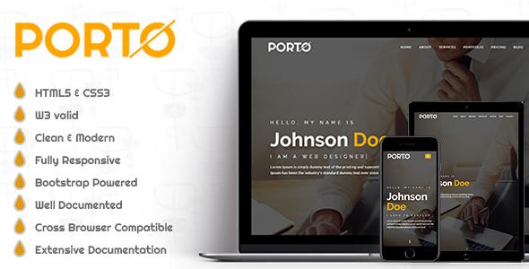Porto - Personal Portfolio Template by Dev-Usman | ThemeForest