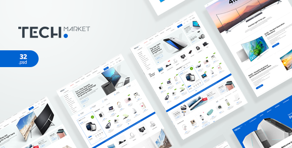 TechMarket - Ultimate Shopify Template by p-themes | ThemeForest