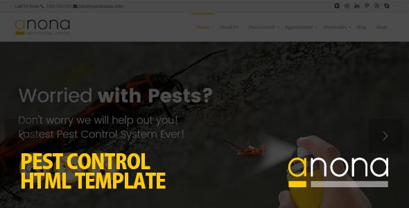 anona pest control html template business corporate