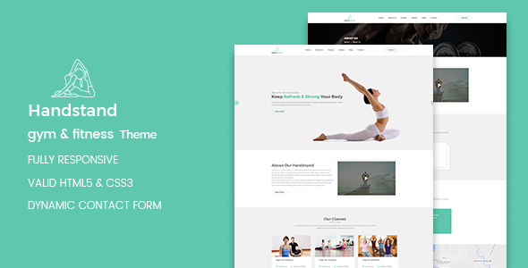 health club wordpress template  Handstand - Gym