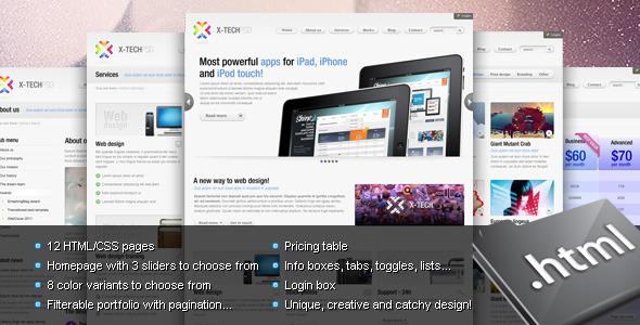 X-Tech Premium HTML/CSS template by Shegy | ThemeForest
