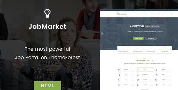 job portal html template themeforest  JobMarket - Job Portal HTML Template (Multipurpose) by diothemes ...