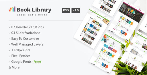 Book Store Library Online Book Store Template By DesignHoard - Online book template free