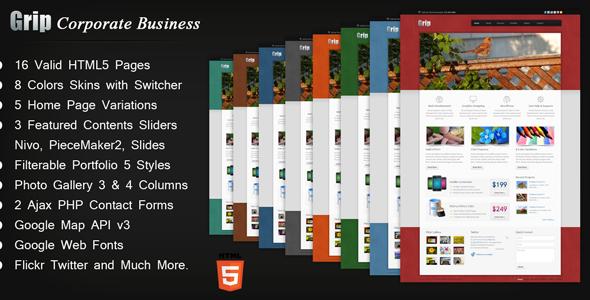 grip corporate business html templateanjum | themeforest, Presentation templates