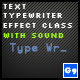 Text Typewriter Effect Class With Sound