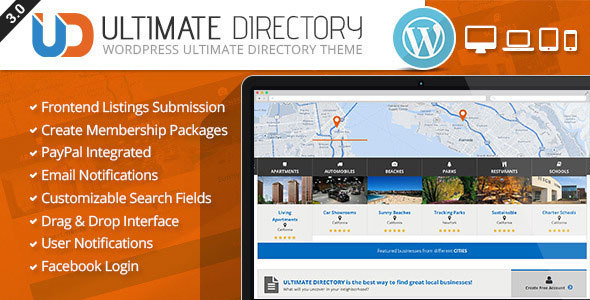 Ultimate directory responsive wordpress theme by crunchpress ultimate directory responsive wordpress theme directory listings corporate accmission Images
