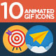Flat Animated Icons-Graphicriver中文最全的素材分享平台