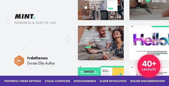 Mint - Creative Multi-Purpose WordPress Theme by tvdathemes ...