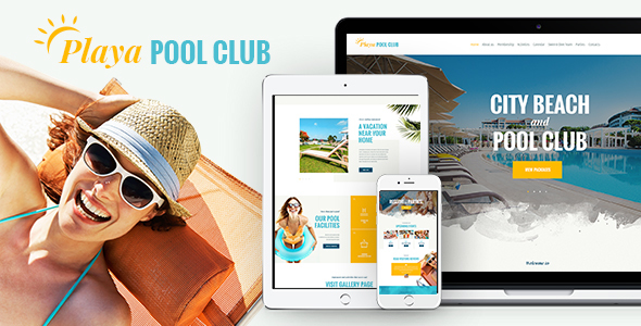 Playa   City Beach & Pool Club WordPress Theme by AncoraThemes ...