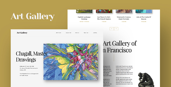 Arte | Art Gallery WordPress Theme by CurlyThemes | ThemeForest