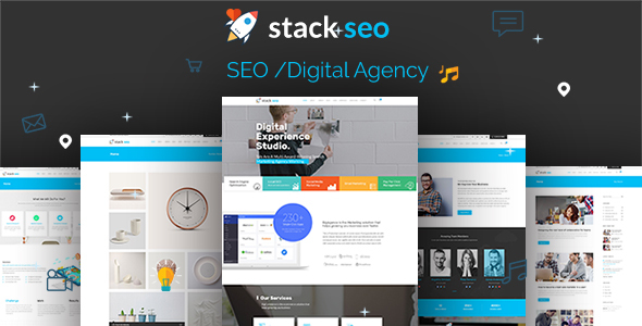 Stack-SEO - Internet Marketing and SEO Responsive Template by ThemexLab
