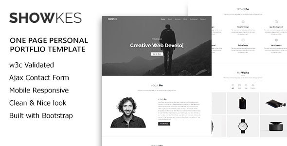 SHOWKES - Personal Portfolio HTML5 Template by web_bean | ThemeForest