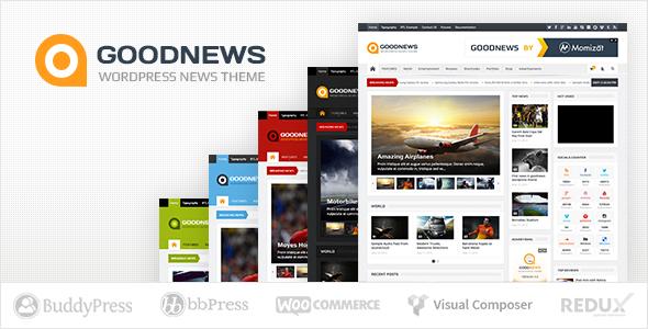 Goodnews - Responsive WordPress News/Magazine