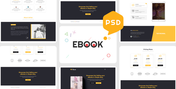 ebooks one page psd template by theme rocket themeforest. Black Bedroom Furniture Sets. Home Design Ideas