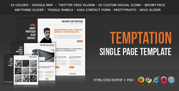 ThemeForest - Temptation - a Single Page Template - RIP