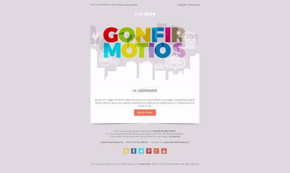The City Business Email Template By Bnrcreativelab Themeforest