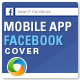 Mobile App Facebook Cover-Graphicriver中文最全的素材分享平台