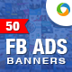 FB Newsfeed Ad Banners - 50-Graphicriver中文最全的素材分享平台