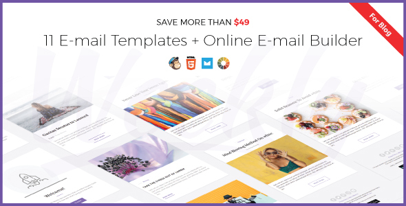 Weekly Responsive Email Newsletter Template With Online Email - Weekly email newsletter template