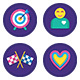 60 Gamification Icons-Graphicriver中文最全的素材分享平台
