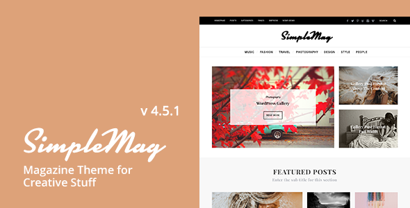 SimpleMag - Magazine theme for creative stuff by ThemesIndep ...