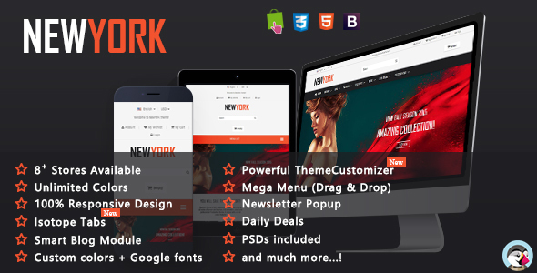 NewYork - MultiPurpose Responsive Prestashop Theme by fieldthemes ...